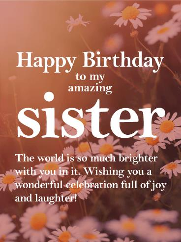 birthday wishes my sister card ; b_day_fsi54-09ad8528a7de79a19bbe791391ee0698