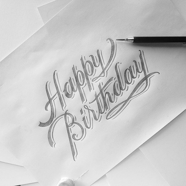 birthday wishes pencil drawing ; b919effe373c8b555243dd984766ee52--calligraphy-happy-birthday-happy-birthday-typography