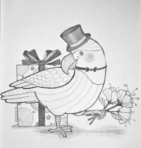 birthday wishes pencil drawing ; sketch-of-birthday-card-new-parrot-birthday-card-sketch-pencil-sketch-of-my-concept-fo-of-sketch-of-birthday-card