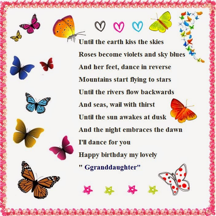 birthday wishes poem ; granddaughter-birthday-poems