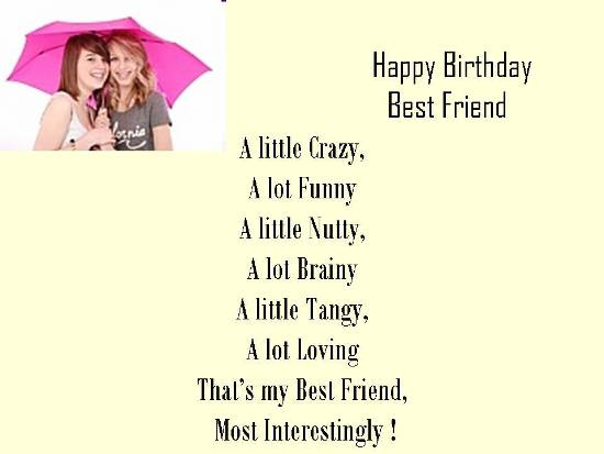 Birthday Wishes Poem To Best Friend 303838