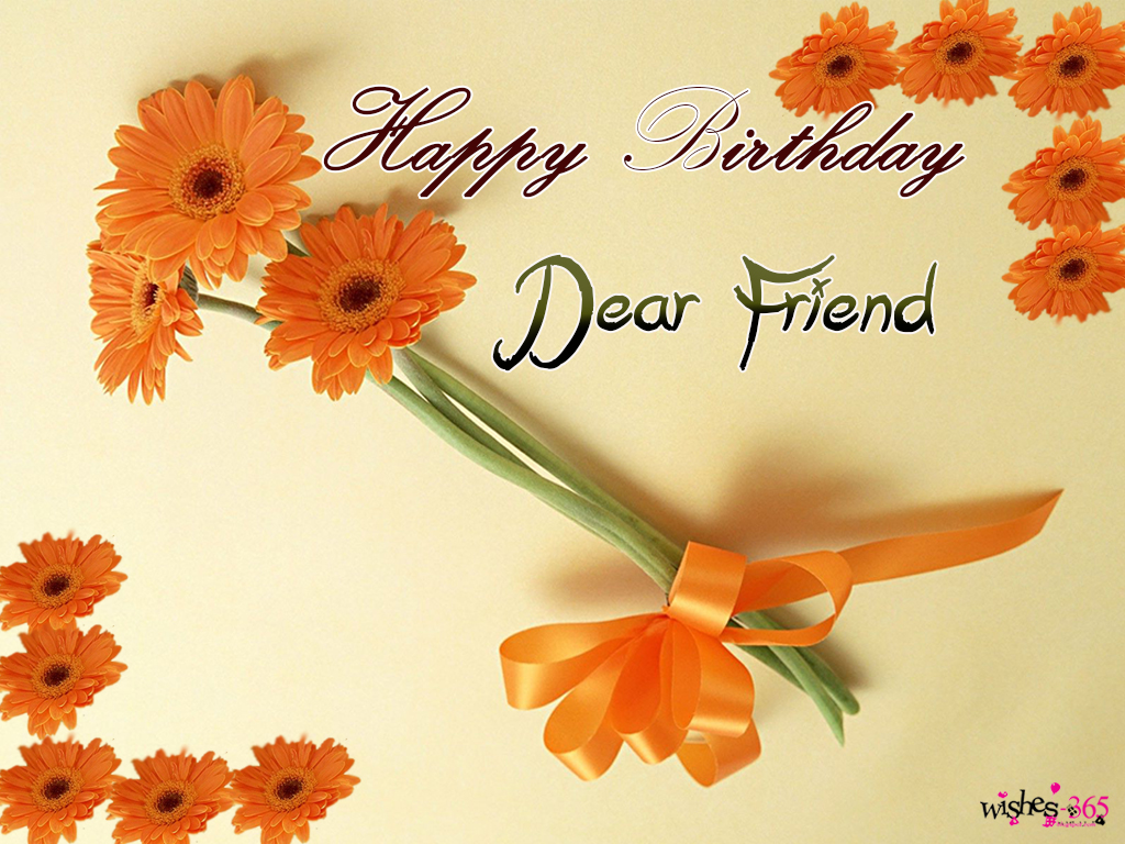 birthday wishes poems for best friend ; Happy-Birthday-Image-wit-Dear-Friend-and-Beautiful-Flower-Bouky-with-Background