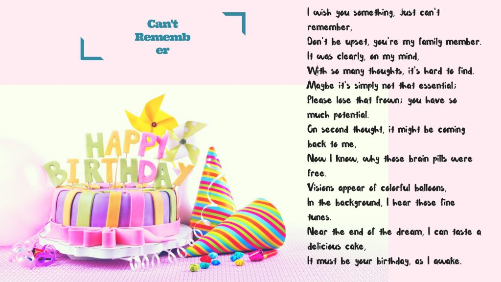 birthday wishes poems for best friend ; funny-birthday-poems-Cant-Remember-1024x576
