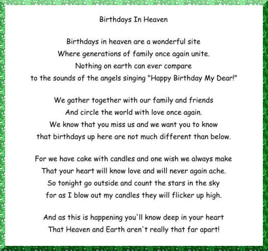 birthday wishes sent from heaven poem ; 5a8329472aa5af31d950e9821884f664--happy-birthday-daddy-happy-birthday-in-heaven