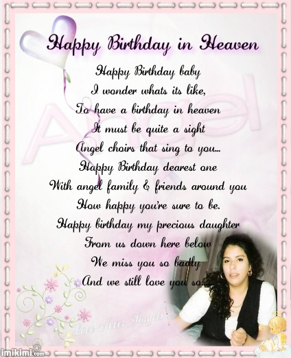 birthday wishes sent from heaven poem ; 5a9ca46c7cd29f964145b59d6101555c