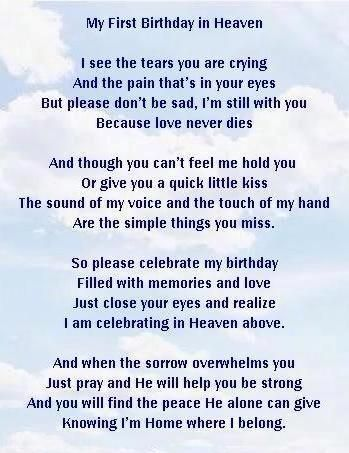 birthday wishes sent from heaven poem ; 782247e6d27040e0264f8a2edc3d311c--happy-first-birthday-happy-st-birthdays