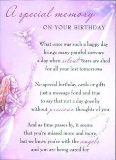 birthday wishes sent from heaven poem ; acff48b61618a2c7ea1cd74d42f9b88b--birthday-messages-birthday-wishes