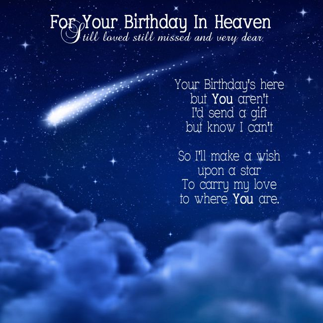 birthday wishes sent from heaven poem ; b79508cc22956c879b90a518910d2887--free-birthday-card-birthday-cards