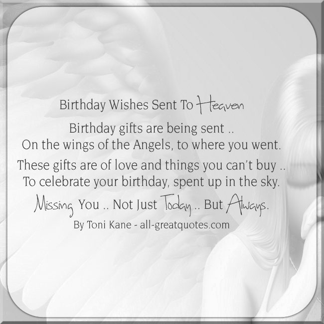 birthday wishes sent from heaven poem ; c3b1c8f74284871a0aec27f2a416d4e8