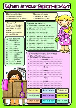birthday worksheets ; when-is-your-birthday-bw-included-fun-activities-games_10658_1