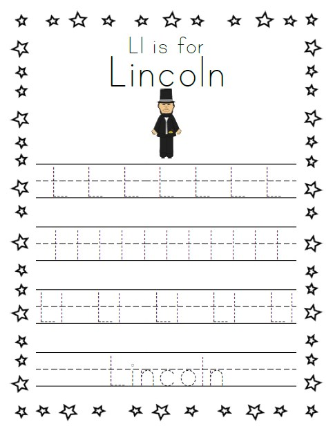 birthday worksheets for kindergarten ; Presidents-Day-Tracing-Worksheet-1