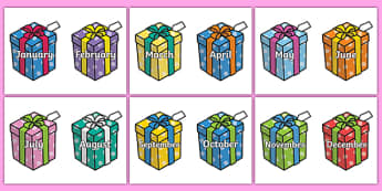 birthdays of the month clipart ; T-M-572-Months-of-the-Year-on-Birthday-Presents_ver_2