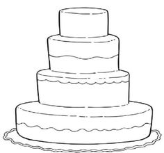 blank birthday cake coloring page ; wedding-color-pages-14