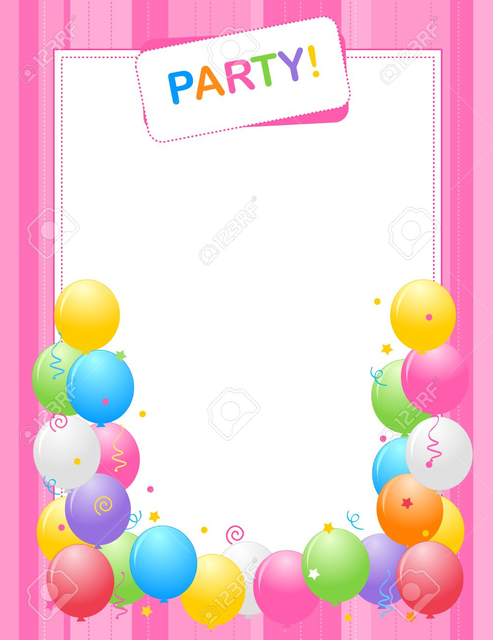 border birthday card ; 38908538-colorful-balloons-border-frame-illustration-for-birthday-cards-and-party-invitation-backgrounds-pink-Stock-Photo
