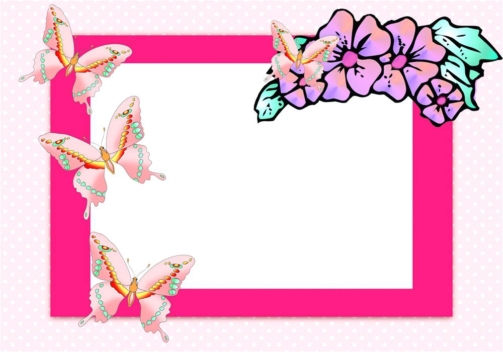 border birthday card ; greeting-card-frames-photoshop-birthday-frame-blue-silver-butterfly-collection-2
