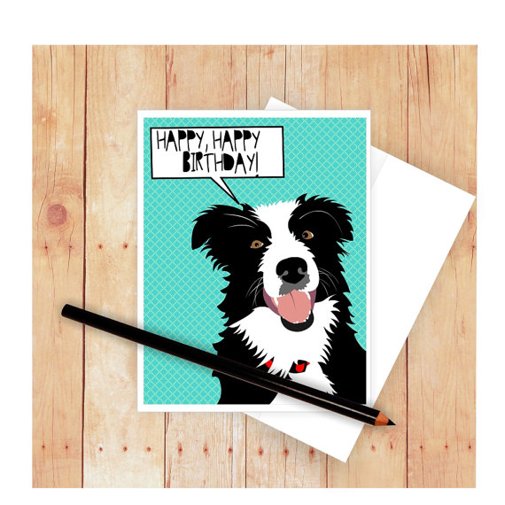 border collie birthday ; il_570xN