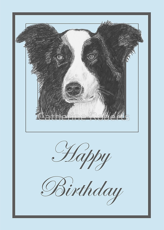 border collie birthday images ; flat,800x800,070,f