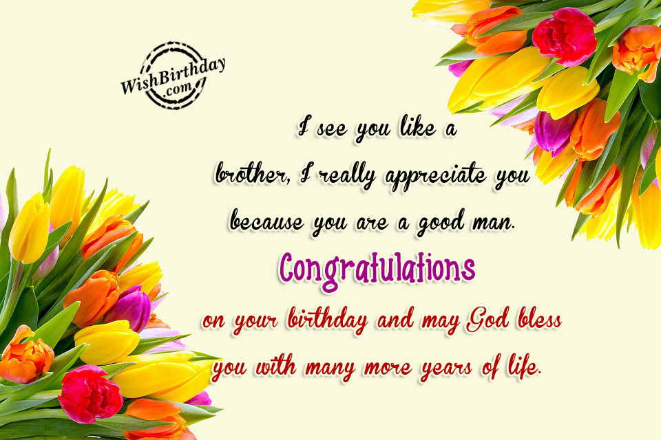 brother in law birthday wishes card ; Congratulations-On-Your-Birthday