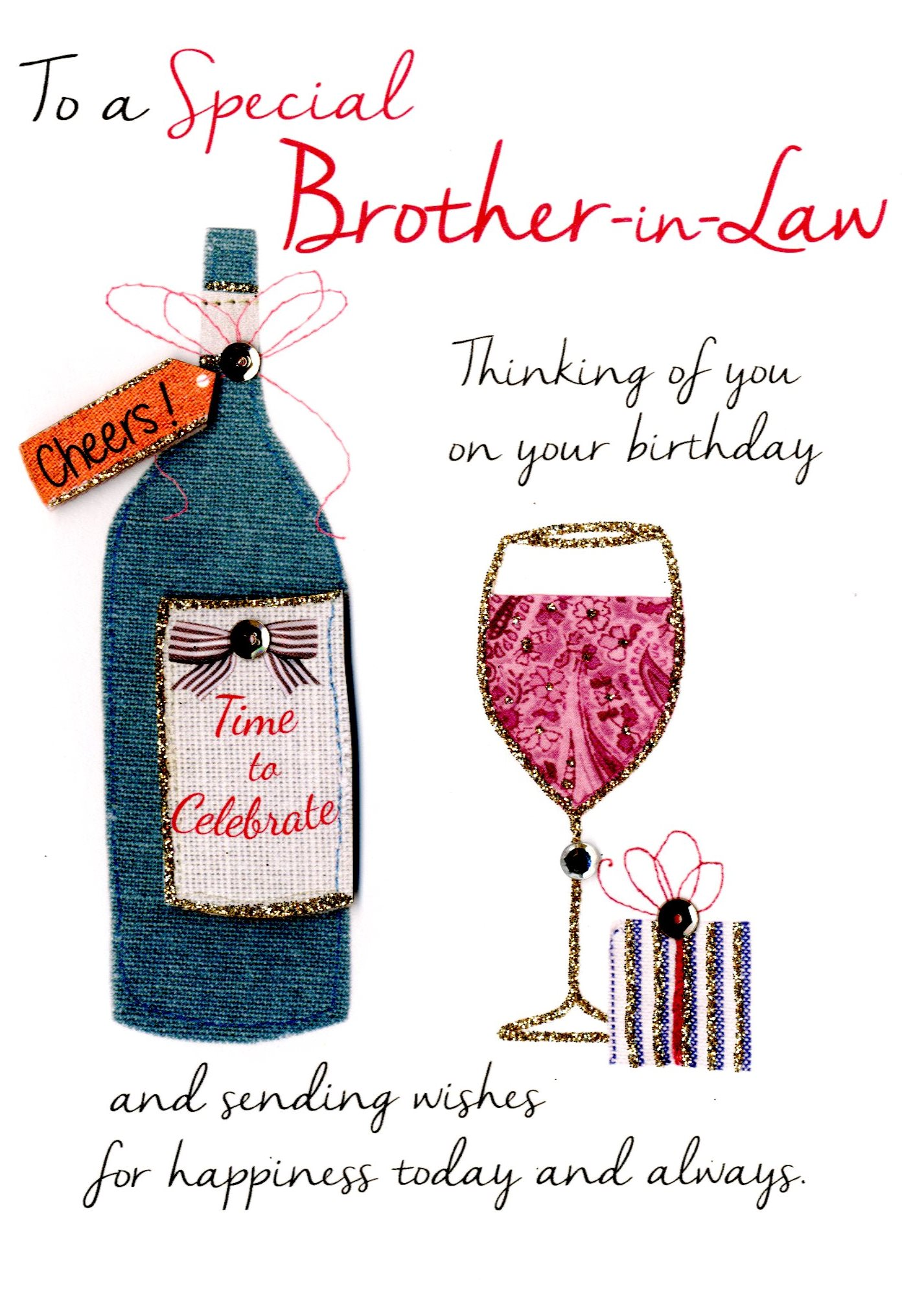 brother in law birthday wishes card ; JT074