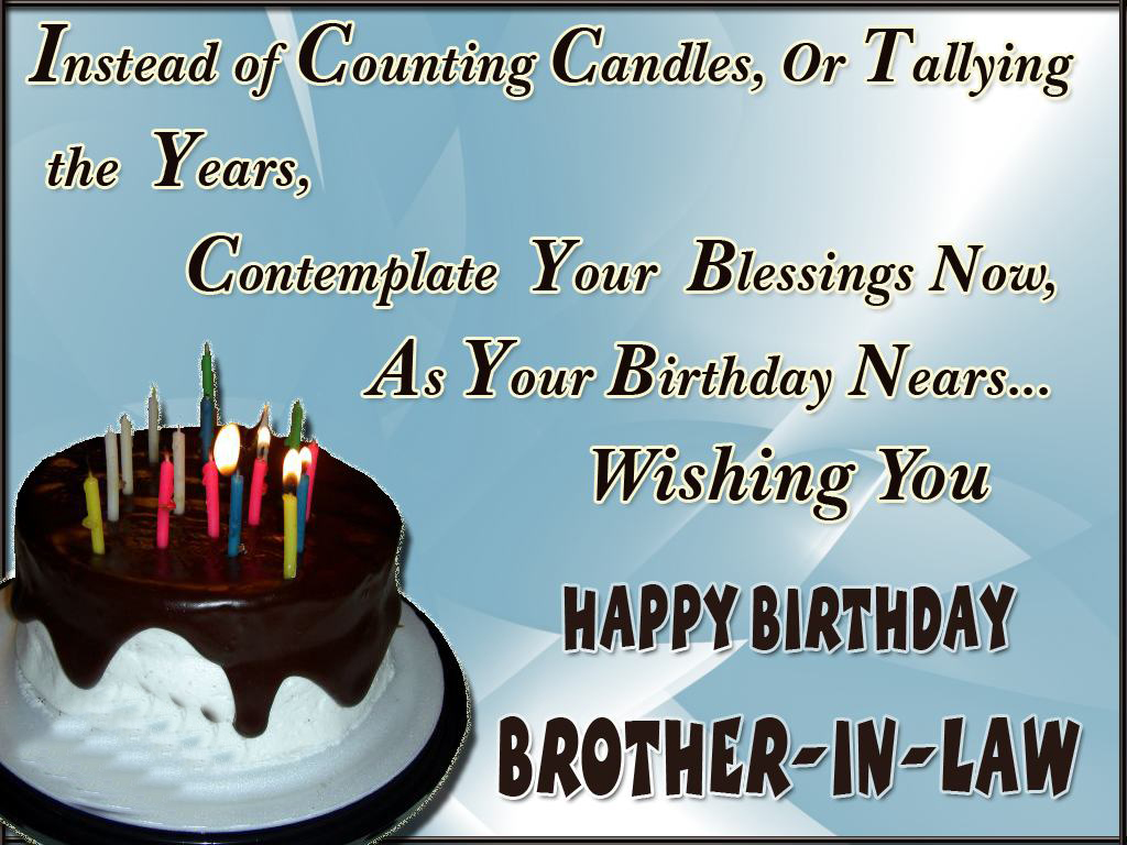 brother in law birthday wishes card ; e981581124f4396b95bbf8bd71fe445e