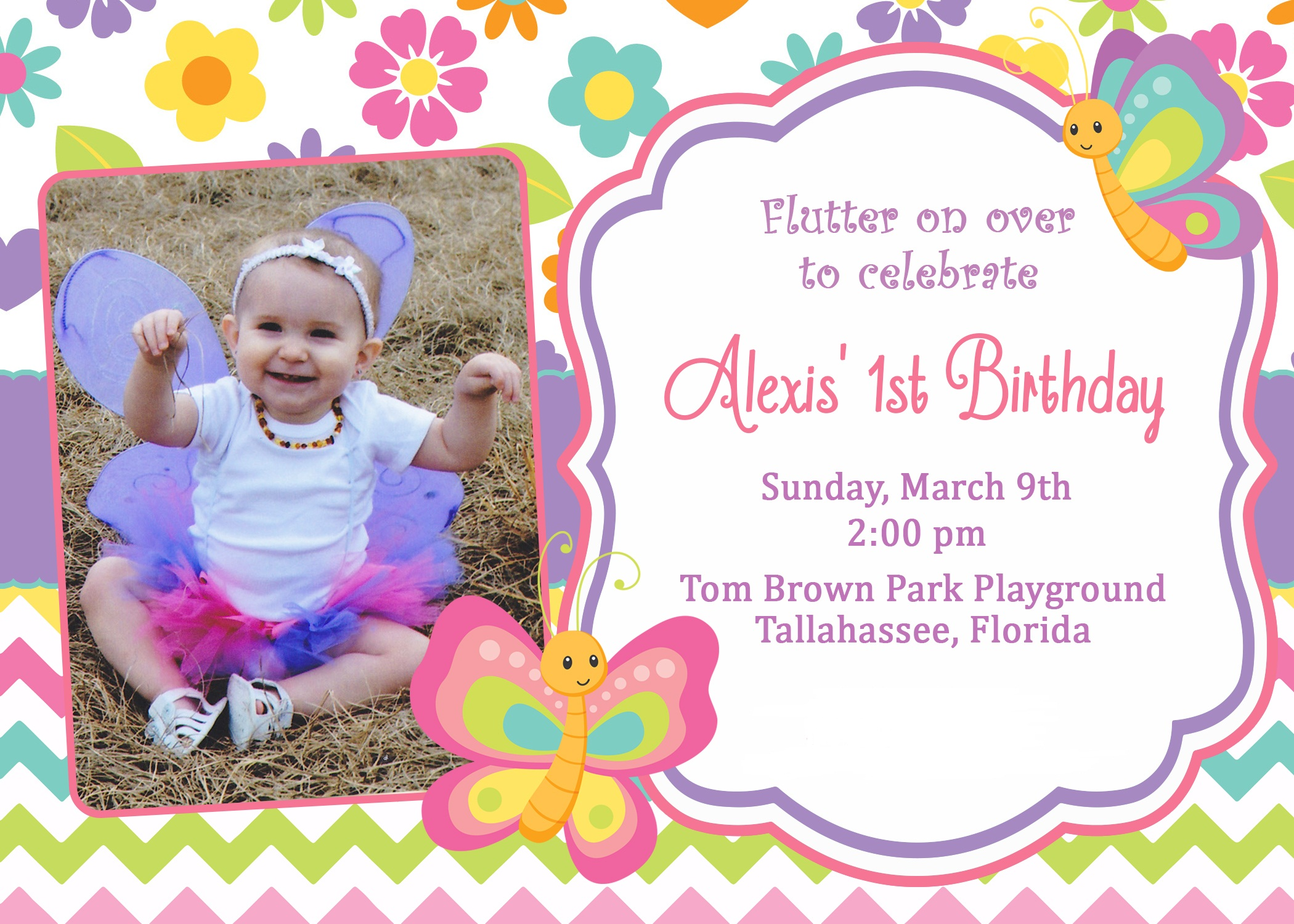 butterfly themed birthday invitation ; Butterfly-1St-Birthday-Invitations-for-a-surprising-birthday-Invitation-design-with-surprising-layout-1
