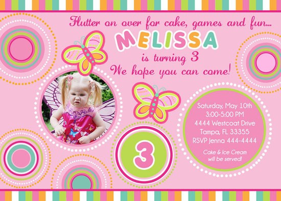 butterfly themed birthday invitation ; Circle-butterfly-birthday-invitations
