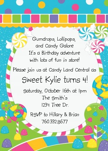 candy themed birthday invitation wording ; 456190f283d24b9f2fa63bd404b12852