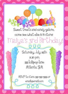 candy themed birthday invitation wording ; 54d2a4d1847a8abef705042d3e01a81f--candy-theme-candy-party