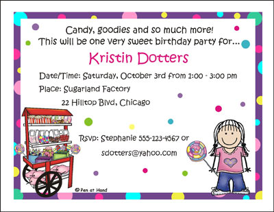 candy themed birthday invitation wording ; Inv_1053_G_LARGE
