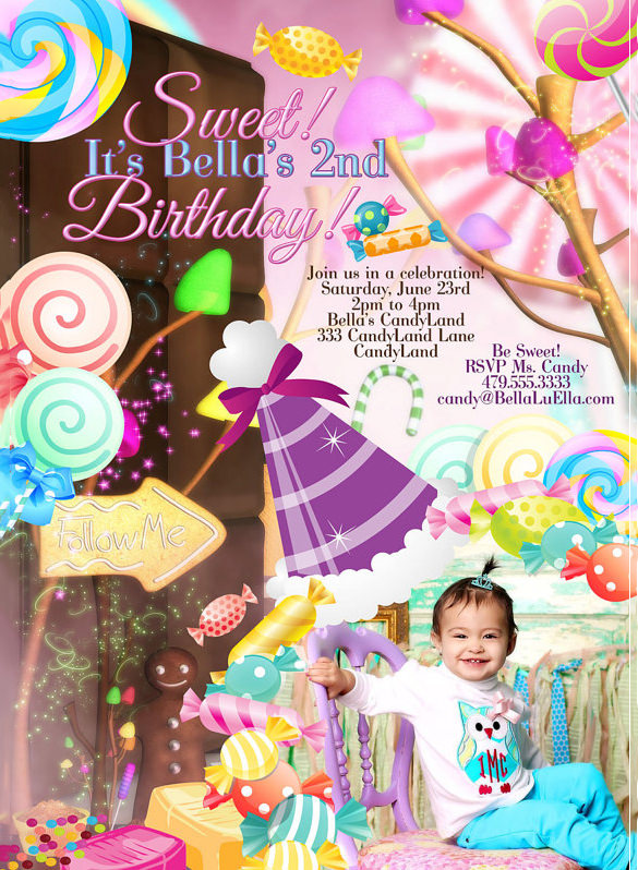 candy themed birthday invitation wording ; Sweet-Candyland-Invitation-Template