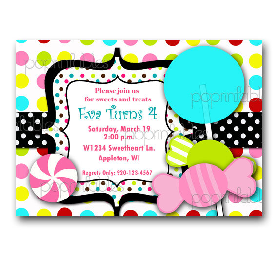 candy themed birthday invitation wording ; c018316f79e456f3fbe73c8f2f1981e1