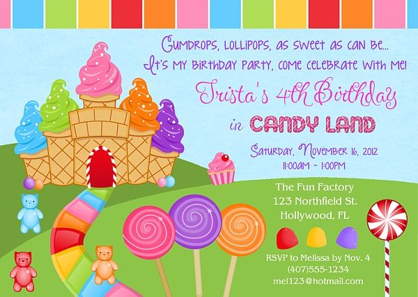 candy themed birthday invitation wording ; invitation-birthday-party-best-25-candy-land-invitations-ideas-on-pinterest-candy-ideas