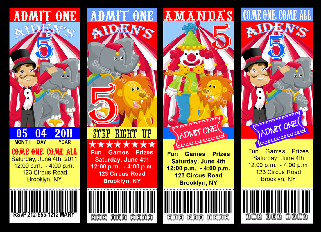 carnival themed birthday party invitation templates ; 8_best_images_of_free_circus_theme_invitations_9