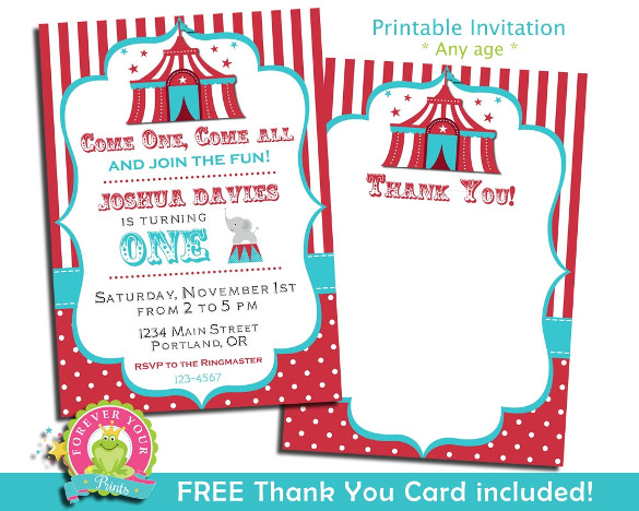 Carnival Themed Invitation Template from bestwishes4birthday.com