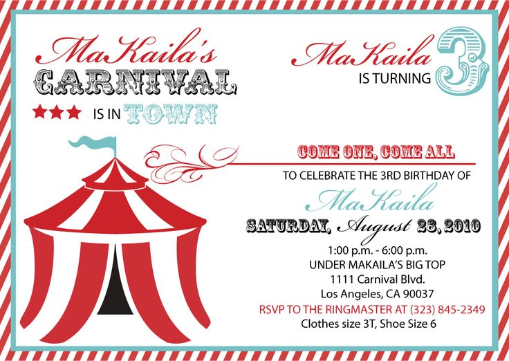 carnival themed birthday party invitation templates ; carnival-themed-birthday-party-invitation-templates-best-25-carnival-party-invitations-ideas-on-pinterest-circus-download