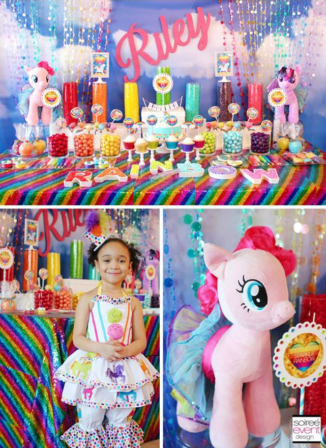 children's birthday activities ; Sparkle-Rainbow-My-Little-Pony