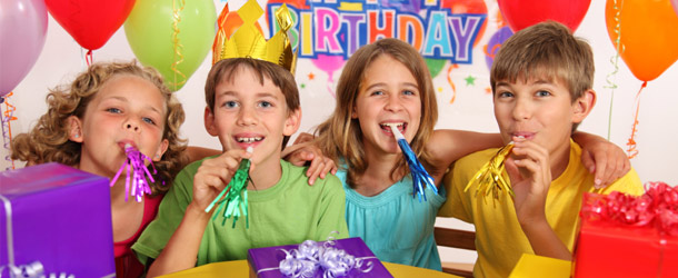 children's birthday activities ; kidsbirthday_header