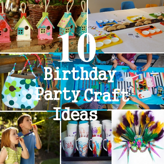 children's birthday party activities ; Birthday-Party-Crafts