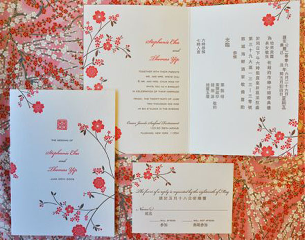 chinese birthday invitations with lucky red color ; 158ff4173d12635f4f501a9614b37727