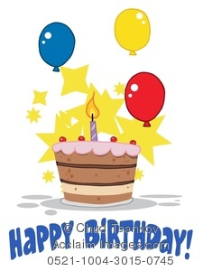 clipart birthday cake and balloons ; 0521-1004-3015-0745_happy_birthday_cake_and_balloons