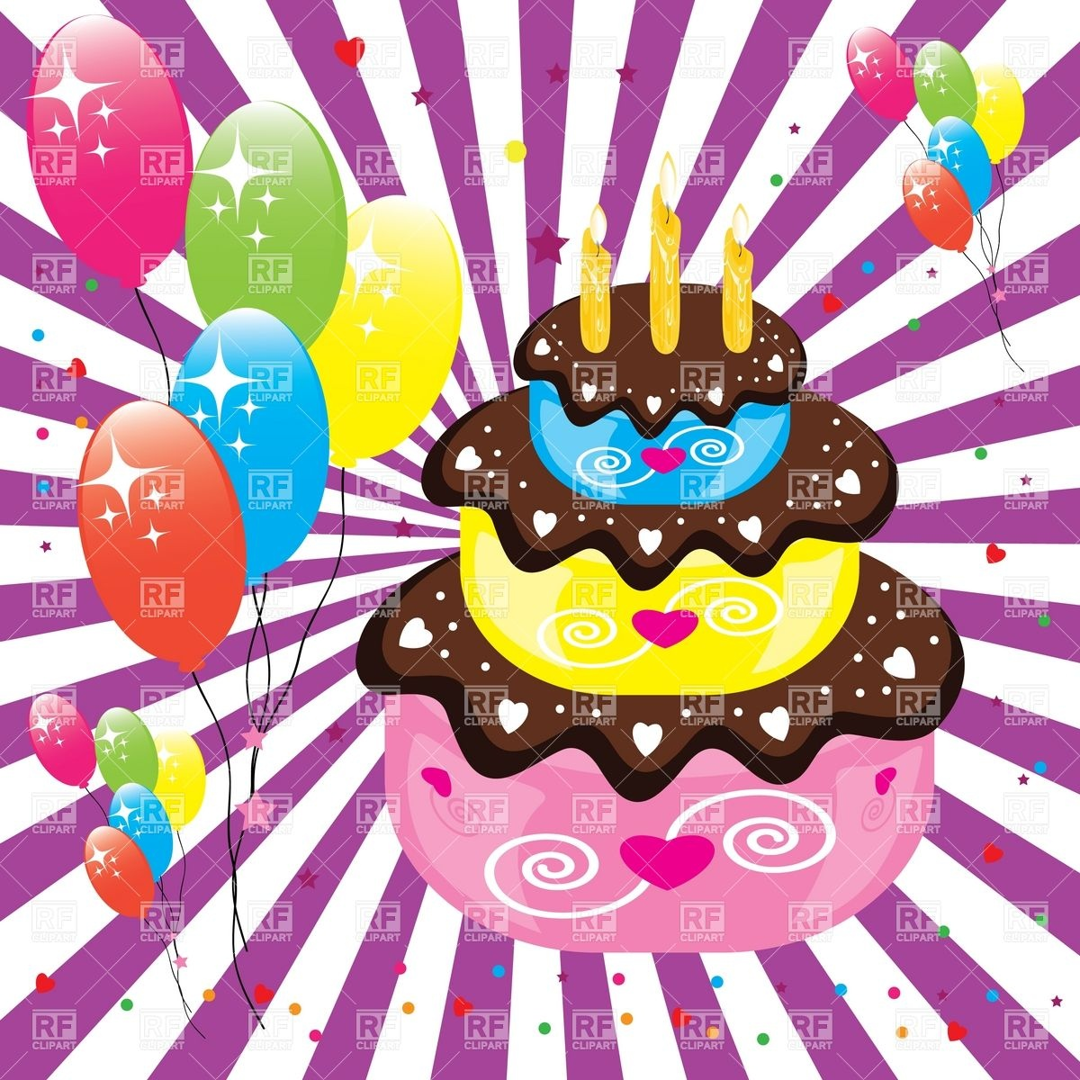 clipart birthday cake and balloons ; birthday-cake-and-balloons-Download-Royalty-free-Vector-File-EPS-15052
