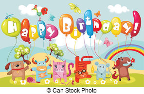clipart birthday greetings ; Happy-21st-birthday-cards-vector-illustration-of-a-cute-birthday-cardds-costumed-characters-clipart-animals-alphabets-rainbow-colorful