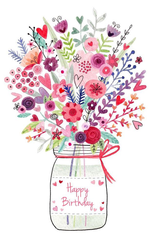 clipart birthday greetings ; bouquet-clipart-happy-birthday-16