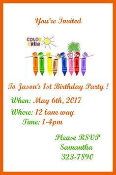 color crew birthday invitations ; 2bca627961d83ffdd15047754c44ce6a