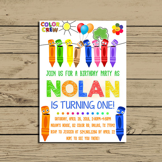 color crew birthday invitations ; il_570xN
