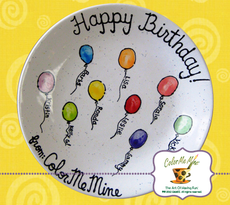 color me mine birthday invitations ; PartyBalloonsPlate