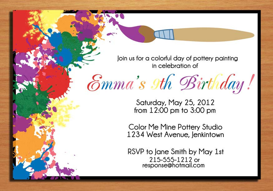 color me mine birthday invitations ; invitation-card-party-birthday-incredible-picture-of-invitation-card-birthday-party-further-cheap-template