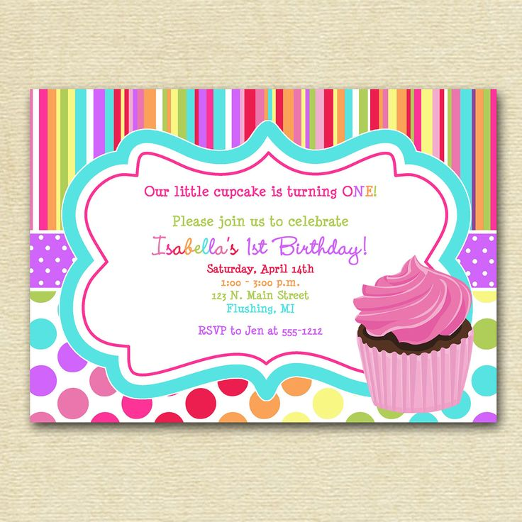 colorful birthday invitations ; 4ac4cbd00f8a971abb2ba65e8d28c5e6--cupcake-invitations-birthday-party-invitations
