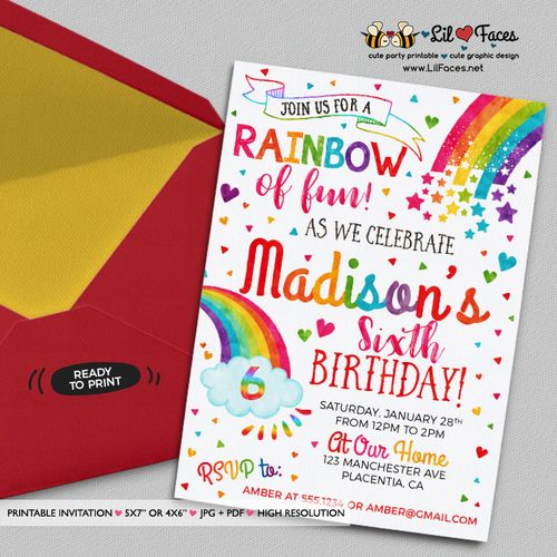 colorful birthday invitations ; 6a08e62b6af961980cdfc6651d15e6bf