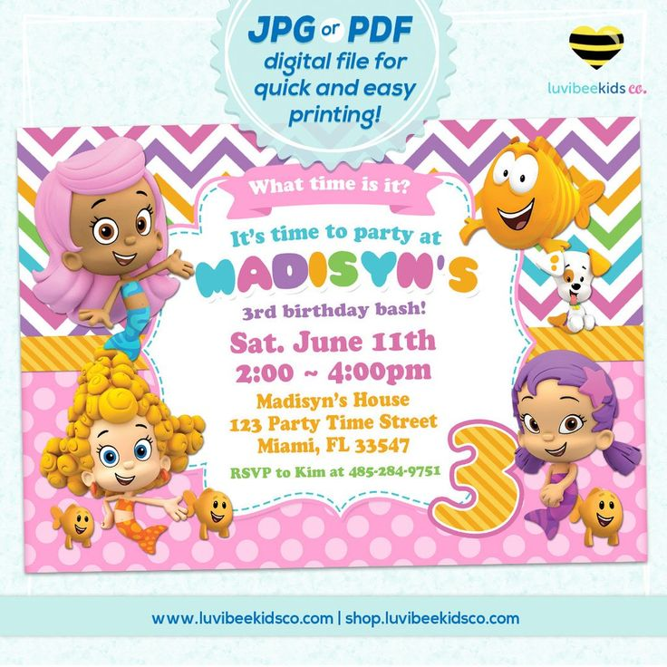 colorful birthday invitations ; bubble-guppies-birthday-party-invitations-best-25-bubble-guppies-invitations-ideas-on-pinterest-bubble-ideas-1